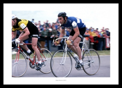 Eddy Merckx Cycling Legend 1977 Photo Memorabilia