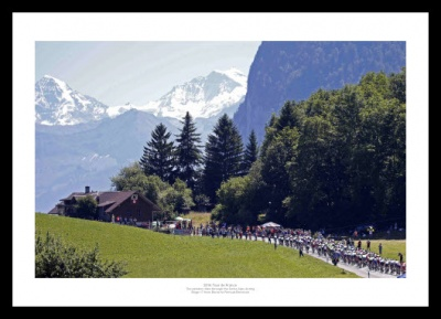 2016 Tour de France Swiss Alps Stage 17 Photo Memorabilia