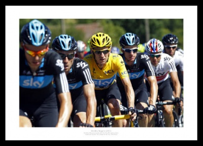 Bradley Wiggins & Team Sky 2012 Tour de France Photo Memorabilia