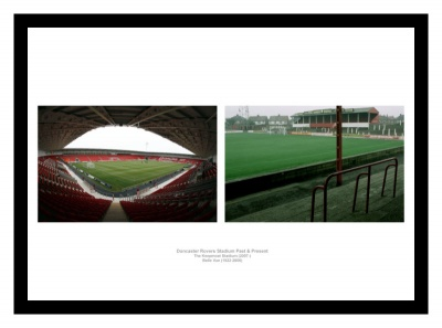 Doncaster Rovers Stadiums Past & Present Photo Memorabilia