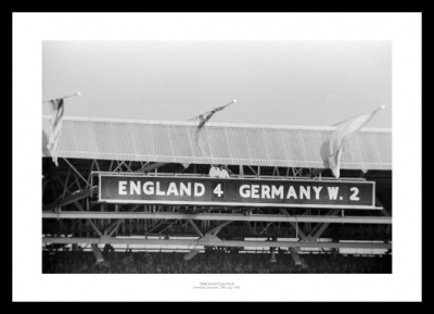 England 1966 World Cup Final Wembley Scoreboard Photo Memorabilia
