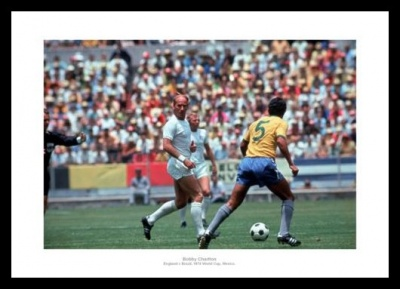 Bobby Charlton 1970 World Cup England Photo Memorabilia