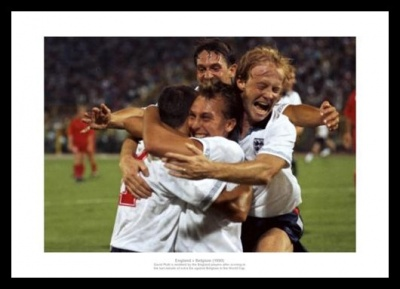 England 1990 World Cup David Platt Goal Photo Memorabilia