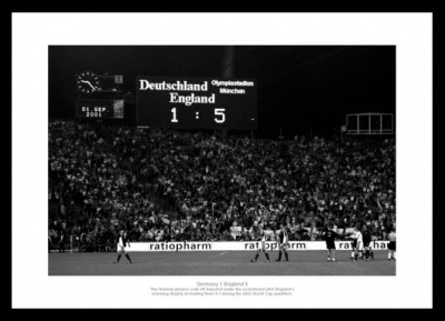 England 5 Germany 1 Scoreboard Photo Memorabilia