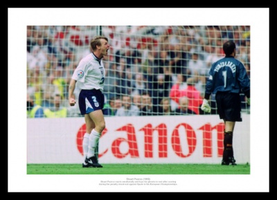 Stuart Pearce Euro 96 England v Spain Photo Memorabilia