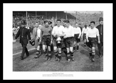 Everton 1933 FA Cup Final Dixie Dean & Team Photo
