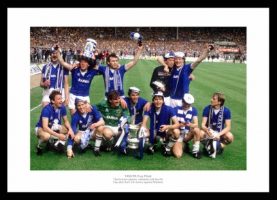 Everton FC 1984 FA Cup Final Team Photo Memorabilia