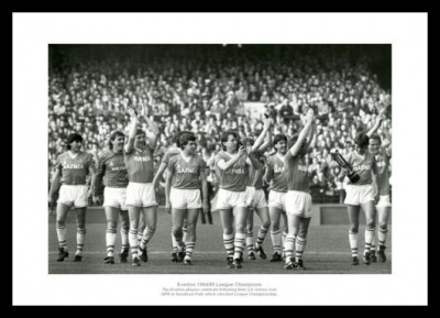 Everton FC 1985 League Champions Team Photo Memorabilia