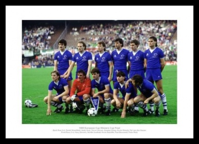 Everton FC 1985 European Cup Winners Cup Final Team Photo Memorabilia