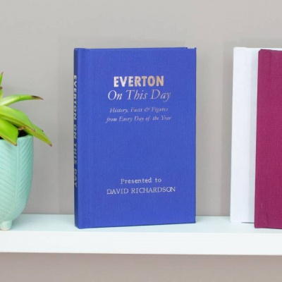 Personalised Everton 'On This Day' Book