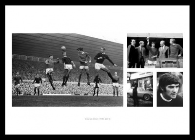 George Best Manchester United Legend Photo Memorabilia