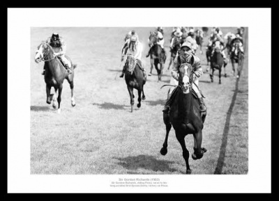 Gordon Richards Wins his First Derby in 1953 Photo Memorabilia