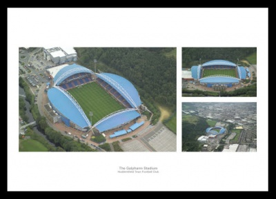 Huddersfield Town Stadium Aerial Views Photo Montage