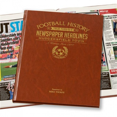 Personalised Huddersfield Town Historic Newspaper Memorabilia Book