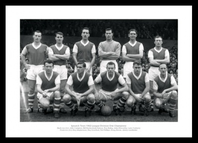 Ipswich Town 1962 League Champions Team Photo Memorabilia