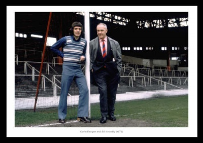 Bill Shankly & Kevin Keegan Liverpool FC 1971 Photo Memorabilia