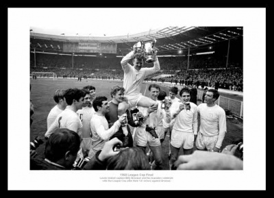 Leeds United 1968 League Cup Final Photo Memorabilia