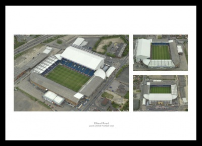 Leeds United Elland Road Stadium Aerial Views Photo Memorabilia