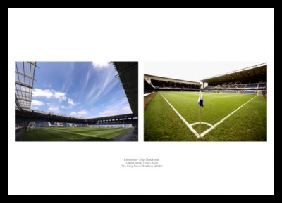 Leicester City Stadiums Old and New Photo Memorabilia