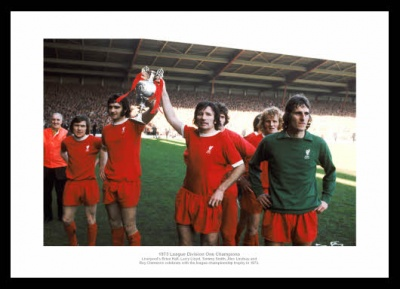 Liverpool 1973 League Champions Team Photo Memorabilia