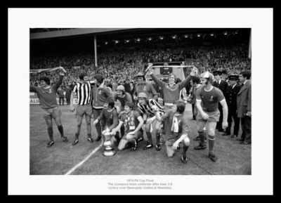 Liverpool FC 1974 FA Cup Final Team Photo Memorabilia