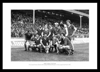 Liverpool FC 1982 League Cup Final Team Photo