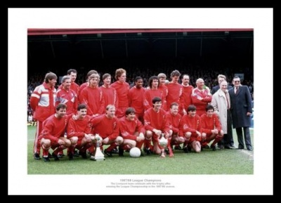 Liverpool FC 1988 League Champions Team Photo Memorabilia