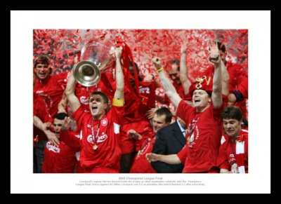 Liverpool 2005 Champions League Final Team Photo Memorabilia