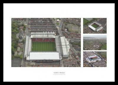 Anfield Stadium Aerial Photo Memorabilia Montage (Before Redevelopment)