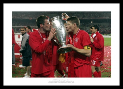 Liverpool 2005 Champions League Final Gerrard & Carragher Photo