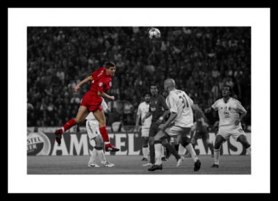 Steven Gerrard Liverpool 2005 Champions League Spot Colour Print