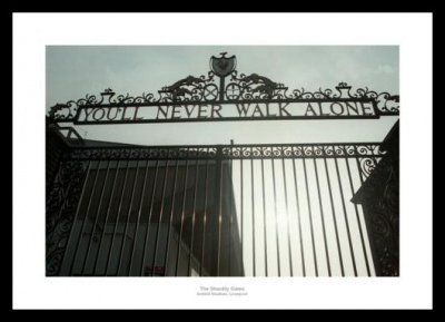 Liverpool FC Anfield Stadium Shankly Gates Photo Memorabilia