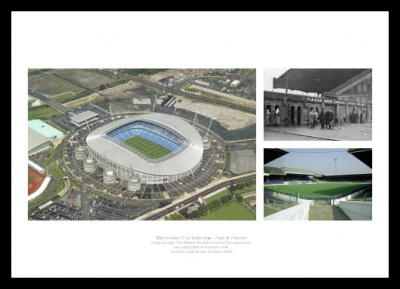 Manchester City Stadiums Past and Present Photo Memorabilia