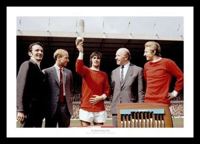 George Best 1968 European Player of the Year Photo Memorabilia