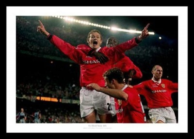 Manchester United 1999 Champions League Goal Photo Memorabilia