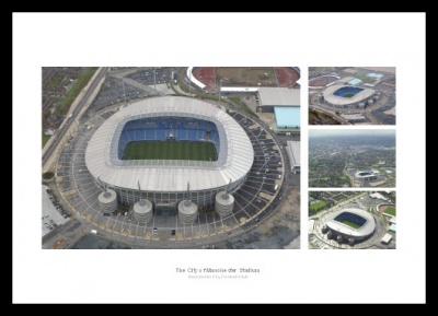 Manchester City Etihad Stadium Aerial Photo