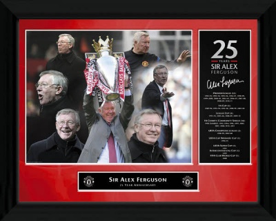 Sir Alex Ferguson '25 Years' Framed Print