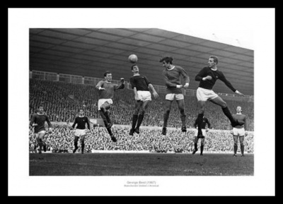 George Best Manchester United v Arsenal 1967 Photo Memorabilia