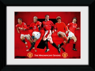 Manchester United Magnificent Sevens Framed Print