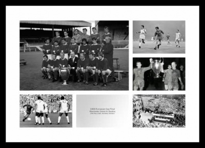 Manchester United 1968 European Cup Final Photo Montage