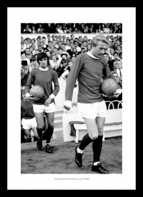 George Best & Denis Law - Manchester United Legends Photo Memorabilia