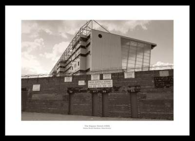 Manchester City Maine Road Stadium Kippax Stand Photo Memorabilia