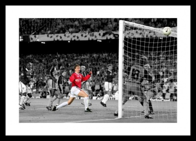 Solksjaer Goal 1999 Champions League  Spot Colour Photo Memorabilia