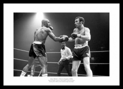 Alan Minter Minter v Marvin Hagler 1980 WBA Title Fight Photo Memorabilia