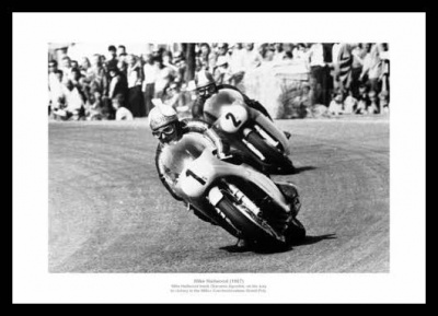 Mike Hailwood Motorcycle Legend 1967 Photo Memorabilia