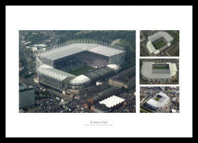 Newcastle United St James Park Stadium Aerial Photo Memorabilia