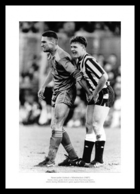Vinnie Jones Grabs Paul Gascoigne Wimbledon FC Photo Memorabilia