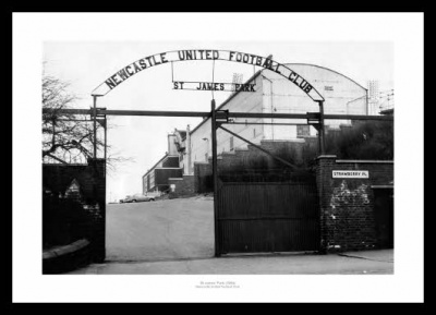 Newcastle United St James Park Stadium 1964 Photo Memorabilia