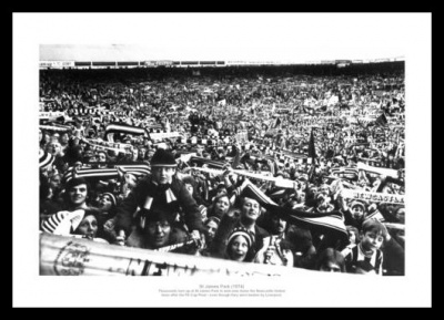 Newcastle Fans at St James Park Stadium 1974 Photo Memorabilia