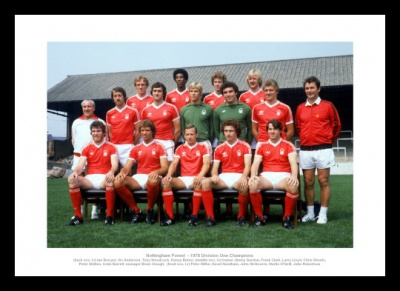 Nottingham Forest 1978 League Champions Team Photo Memorabilia